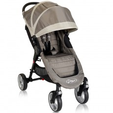 2013 Baby Jogger City Mini Four Wheel Lightweight Easy Fold Stroller - Sand / Stone