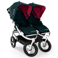 Bumbleride Indie Twin Jogging Stroller in Lotus With Pink Canopies