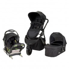 MUV GAAN Travel System with KUSSEN Car Seat and Canopy - Satin Black