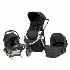MUV GAAN Travel System with KUSSEN Car Seat and Canopy - Artic Silver