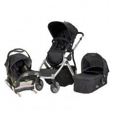 MUV REIS Travel System with KUSSEN Car Seat and Canopy - Artic Silver
