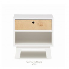 Oeuf Sparrow Night Stand - WOeuf Sparrow Night Stand - White/Birchhite/Birch