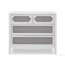 Delta - 4 Draw Dresser White/Grey
