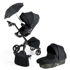 Stokke Xplory V4 True Black Limited Stroller Newborn Package