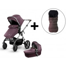 2017 Silver Cross Wave Twin Stroller Complete - Claret