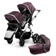 2017 Silver Cross Wave Double Stroller - Claret