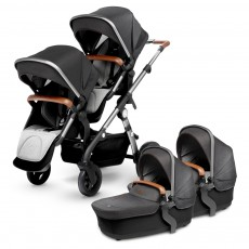 Silver Cross Wave Twin Stroller Complete - Granite