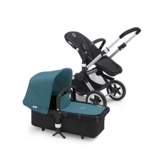 Bugaboo Donkey Tailored Fabric Set Extendable Sun Canopy Petrol Blue