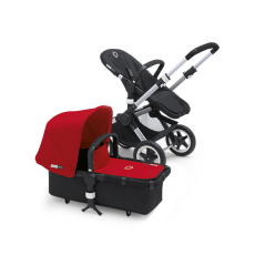 Bugaboo Buffalo Tailored Fabric Set Extendable Sun Canopy Red
