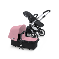 Bugaboo Donkey Tailored Fabric Set Extendable Sun Canopy Soft Pink