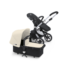 Bugaboo Buffalo Tailored Fabric Set Extendable Sun Canopy Off White