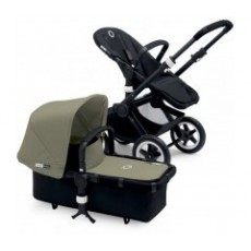 Bugaboo Buffalo Stroller (Base and Tailored Fabric Sets) - Pre-Order - All Black/Dark Khaki