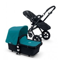 Bugaboo Buffalo Stroller (Base and Tailored Fabric Sets) - Pre-Order - All Black/Petrol Blue