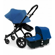 Bugaboo Cameleon3 Stroller Complete - All Black/Royal Blue