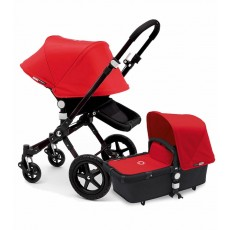Bugaboo Buffalo Stroller (Base and Tailored Fabric Sets) - Pre-Order - All Black/Red
