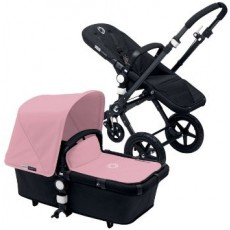 Bugaboo Buffalo Stroller (Base and Tailored Fabric Sets) - Pre-Order - All Black/Soft Pink
