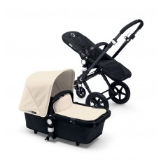 Bugaboo Buffalo Stroller (Base and Tailored Fabric Sets) - Pre-Order - All Black/Off White