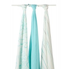 Aden + Anais Bamboo Swaddle in Azure