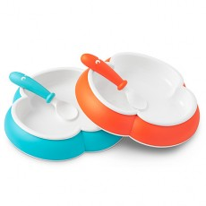 Baby Bjorn Baby Plate and Spoon Orange/Turquoise