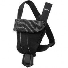 Baby Bjorn Baby Carrier Original Black/Pinstripe Cotton