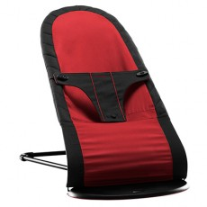 Baby Bjorn Fabric Seat for Babysitter Balance Black/Red, Cotton mix