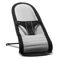 Baby Bjorn Fabric Seat for Babysitter Balance Black/Silver, Cotton Mix