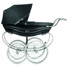 Silver Cross Balmoral Hand-Crafted Pram Stroller White & Navy