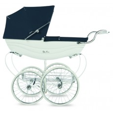 Silver Cross Balmoral Hand-Crafted Pram Stroller Pre-Order White & Navy