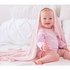 Bamboosa Baby Cable Knit Organic Blanket - Pale Pink