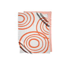Nook Sleep Systems Organic Knit Blanket Orange & White