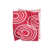 Nook Sleep Systems Organic Knit Blanket Blossom Bright Pink