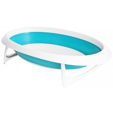 Boon NAKED 2-Position Collapsible Baby Bathtub - Blue & White