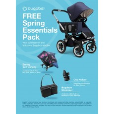 Bugaboo Donkey2 Mono Complete Stroller Pack with FREE Breezy Sun Canopy, Organizer and Cup Holder