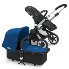 Bugaboo Buffalo Stroller (Base and Tailored Fabric Sets) - Black/Royal Blue
