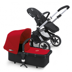 Bugaboo Buffalo Stroller (Base and Tailored Fabric Sets) - Pre-Order - Black/Red