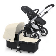 Bugaboo Buffalo Stroller (Base and Tailored Fabric Sets) - Pre-Order - Black/Off White