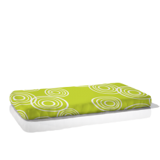 Nook Organic Fitted Crib Sheet Puddle Lawn Green