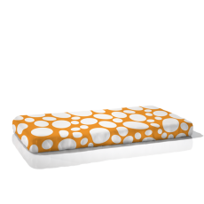 Nook Organic Fitted Crib Sheet Riverbed Daffodil Bright Orange