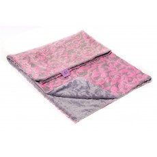 Magnolia Line Minky Ultra Soft Baby Blanket - Cuddle Pink