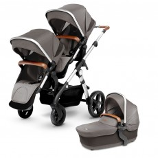 Silver Cross Wave Double Stroller - Sable