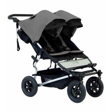 2016 Mountain Buggy Duet Double Stroller - Flint Grey