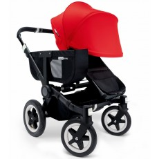 Bugaboo Donkey Mono Stroller Complete - All Black/Red