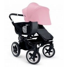 Bugaboo Donkey Mono Stroller Complete - All Black/Soft Pink