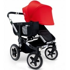 Bugaboo Donkey Mono Stroller Complete - Black/Red