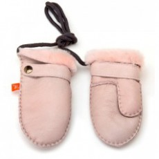 Elks and Angels Love Winter Shearling Toddler Mittens Rose Dust