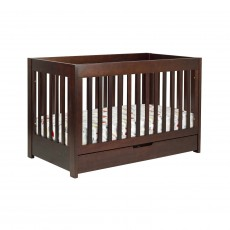 Babyletto Mercer 3-in-1 Convertible Crib with Toddler Rail Espresso