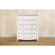 Franklin and Ben Arlington Tall 5 Drawer Dresser