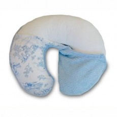 Boppy Support Pillow With Classic Slipcover - Toile De Joie Blue