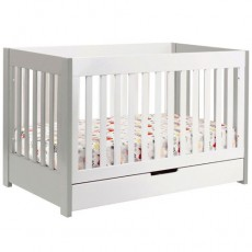 Babyletto Mercer 3-in-1 Convertible Crib with Toddler Rail Grey/White