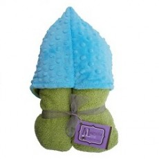 Magnolia Line Hooded Towel Lime Terry - Torquise Minky Dot Hood